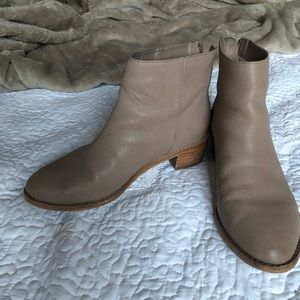 Dolce Vita Caiden Light Grey Leather Booties